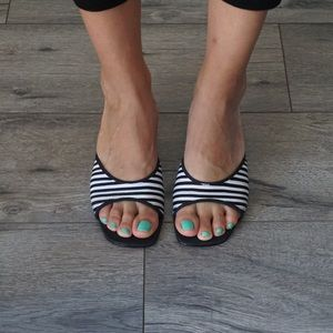 Vintage Chinese Laundry Striped Sandal